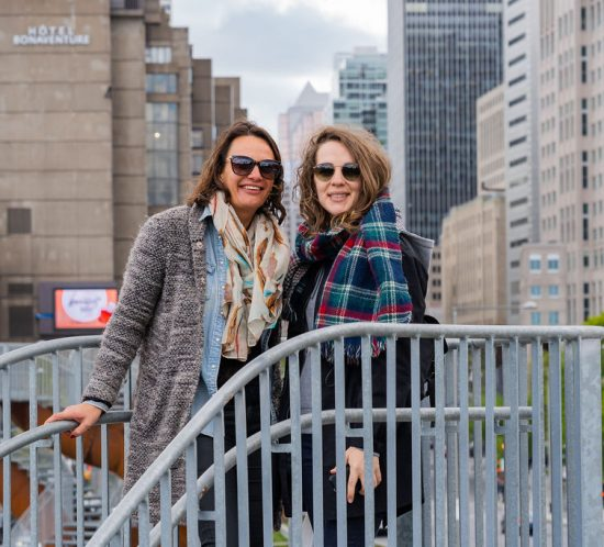 Emmanuelle and Mélanie visiting Montreal